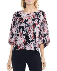 Vince Camuto - Timeless Blooms Mesh Top - Lyst