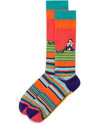 Bloomingdale's - Striped Telephone Socks - Lyst