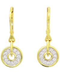 Frederic Sage - Diamond Firenze Spinning Disc Drop Earrings In 18k White & Yellow Gold - Lyst