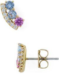 Nadri - Bloom Tricolor Stud Earrings - Lyst