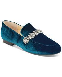 Ivanka Trump - Wareen Embellished Velvet Loafers - Lyst