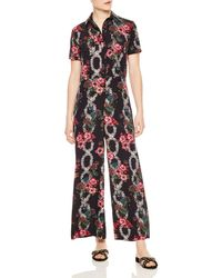 71ac8e427e Sandro - Tears Floral-print Wide-leg Jumpsuit - Lyst