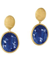 Marco Bicego - 18k Yellow Gold Siviglia Blue Sapphire Earrings - Lyst