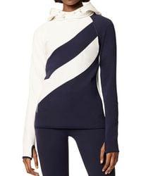 Tory Sport - Color-block Hooded Sweatshirt - Lyst