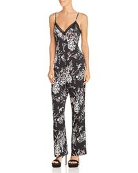 Guess - Sleeveless Floral-print Jumpsuit - Lyst
