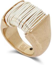 Robert Lee Morris - Two-tone Wrap Metal Ring - Lyst