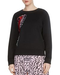 Maje - Theophile Butterfly Embroidered Sweatshirt - Lyst