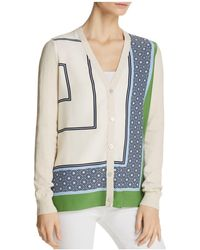Tory Burch - Greer Graphic-print Silk Cardigan - Lyst