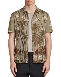 AllSaints - Nalu Slim Fit Button-down Shirt - Lyst