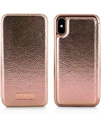 Ted Baker - Fenela Mirror Folio Iphone X Case - Lyst