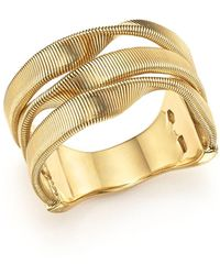 Marco Bicego - 18k Yellow Gold Marrakech Supreme Three Strand Twisted Ring - Lyst