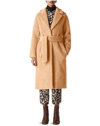 Whistles - Textured Wrap Coat - Lyst