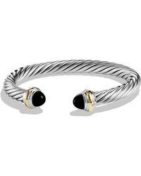 David Yurman - Cable Classics Bracelet With Black Onyx & Gold - Lyst