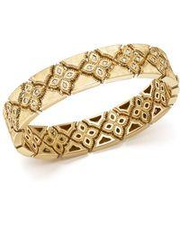 Roberto Coin - 18k Yellow Gold Venetian Princess Diamond Bangle - Lyst