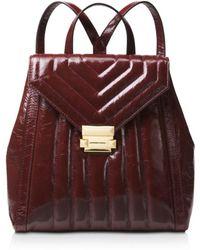 MICHAEL Michael Kors - Whitney Medium Leather Backpack - Lyst