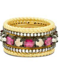 Freida Rothman - Colour Ring In Black Rhodium-plated Sterling Silver & 14k Gold-plated Sterling Silver - Lyst