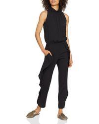 Halston - Sleeveless Mock-neck Ruffled Jumpsuit - Lyst