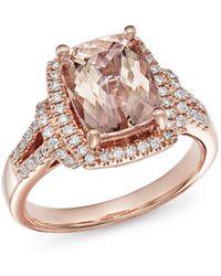 Bloomingdale's - Morganite & Diamond Ring In 14k Rose Gold - Lyst