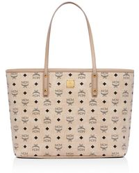 MCM - Anya Top Zip Shopper In Visetos - Lyst