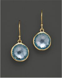 Ippolita - 18k Gold Lollipop Earrings In Blue Topaz - Lyst
