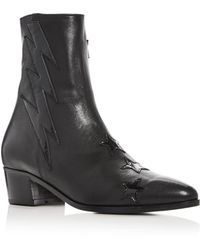 Modern Vice - Women's Bolt Leather Booties - Lyst