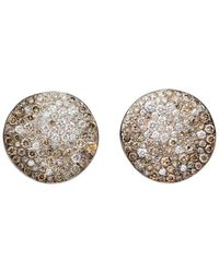 Pomellato - Sabbia Earrings With Brown And White Diamonds In 18k Rose Gold - Lyst