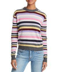 Aqua - Cashmere Striped Cashmere Jumper - Lyst