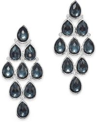 Ippolita - Sterling Silver Rock Candy® Teardrop Cascade Earrings In Clear Quartz And Hematite - Lyst