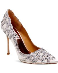 Badgley Mischka - Rouge Embellished Pointed Toe Pumps - Lyst