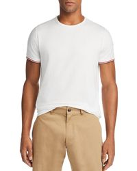 47d4af4b782b Lyst - Moncler Maglia Tipped Pique Polo Shirt in White for Men