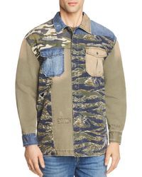 True Religion - Patched Utility Regular Fit Button-down Shirt - Lyst