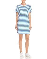 Current Elliott - The Beatnik Striped T-shirt Dress - Lyst 55f815e73
