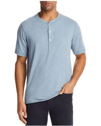 Billy Reid - Hunter Short Sleeve Henley - Lyst