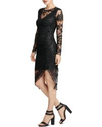 Donna Karan - Embroidered Lace Illusion Sheath Dress - Lyst