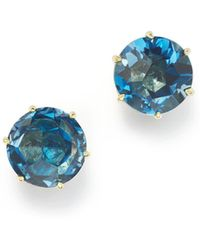 Ippolita - 18k Gold Rock Candy® Medium Round Stud Earrings In London Blue Topaz - Lyst