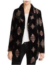 Karen Kane - Embroidered Velvet Jacket - Lyst