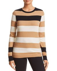 Donna Karan - New York Striped Crewneck Sweater - Lyst