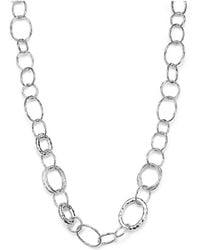 "Ippolita - Sterling Silver Short Necklace With ""bastille"" Links - Lyst"