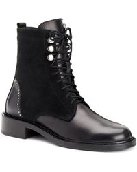 Aquatalia - Women's Ali Studded Weatherproof Lace Up Booties - Lyst