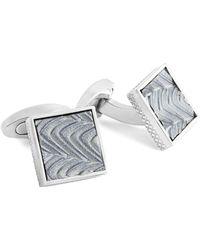 Tateossian - Titanium Wave Pattern Cufflinks - Lyst