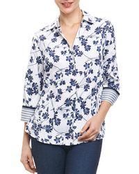 Foxcroft - Floral-print Blouse - Lyst