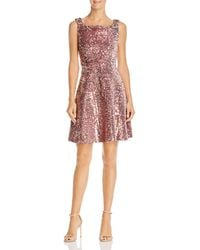Laundry by Shelli Segal - Sequined Velvet Fit-and-flare Dress - Lyst