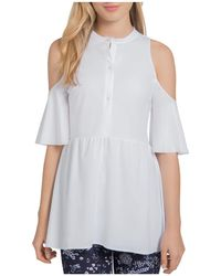 Lyssé - Selma Cold-shoulder Peplum Top - Lyst