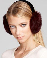 Surell - Rabbit Fur Velvet Band Earmuffs - Lyst