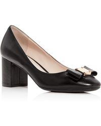 Cole Haan - Women's Tali Leather Block-heel Pumps - Lyst
