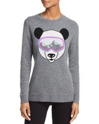 Aqua - Cashmere Ski Goggle Panda Cashmere Jumper - Lyst