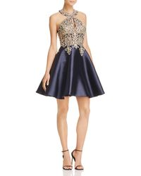 Betsy & Adam - Embroidered Fit-and-flare Dress - Lyst
