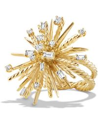David Yurman - Supernova Ring With Diamonds In 18k Gold - Lyst