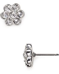 Carolee - Floral Stud Earrings - Lyst