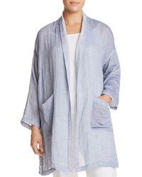 Eileen Fisher - Shawl Collar Kimono Coat - Lyst